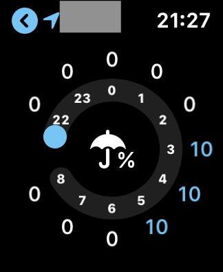 AppleWatch_降水確率